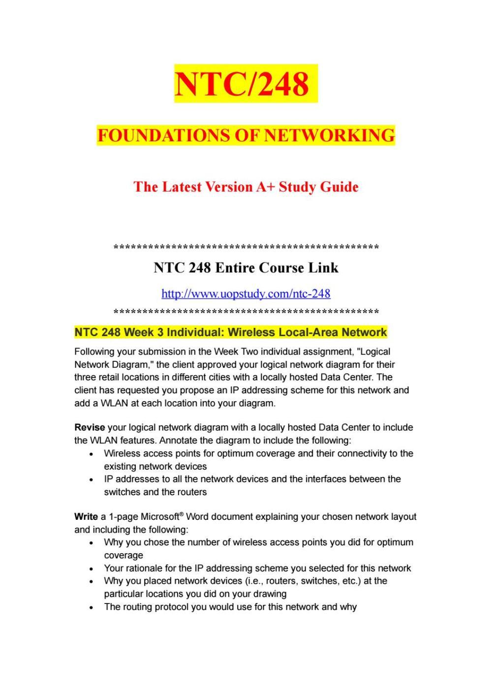medium resolution of ntc 248 week 3 individual wireless local area network uopstudy com by uopx002 issuu