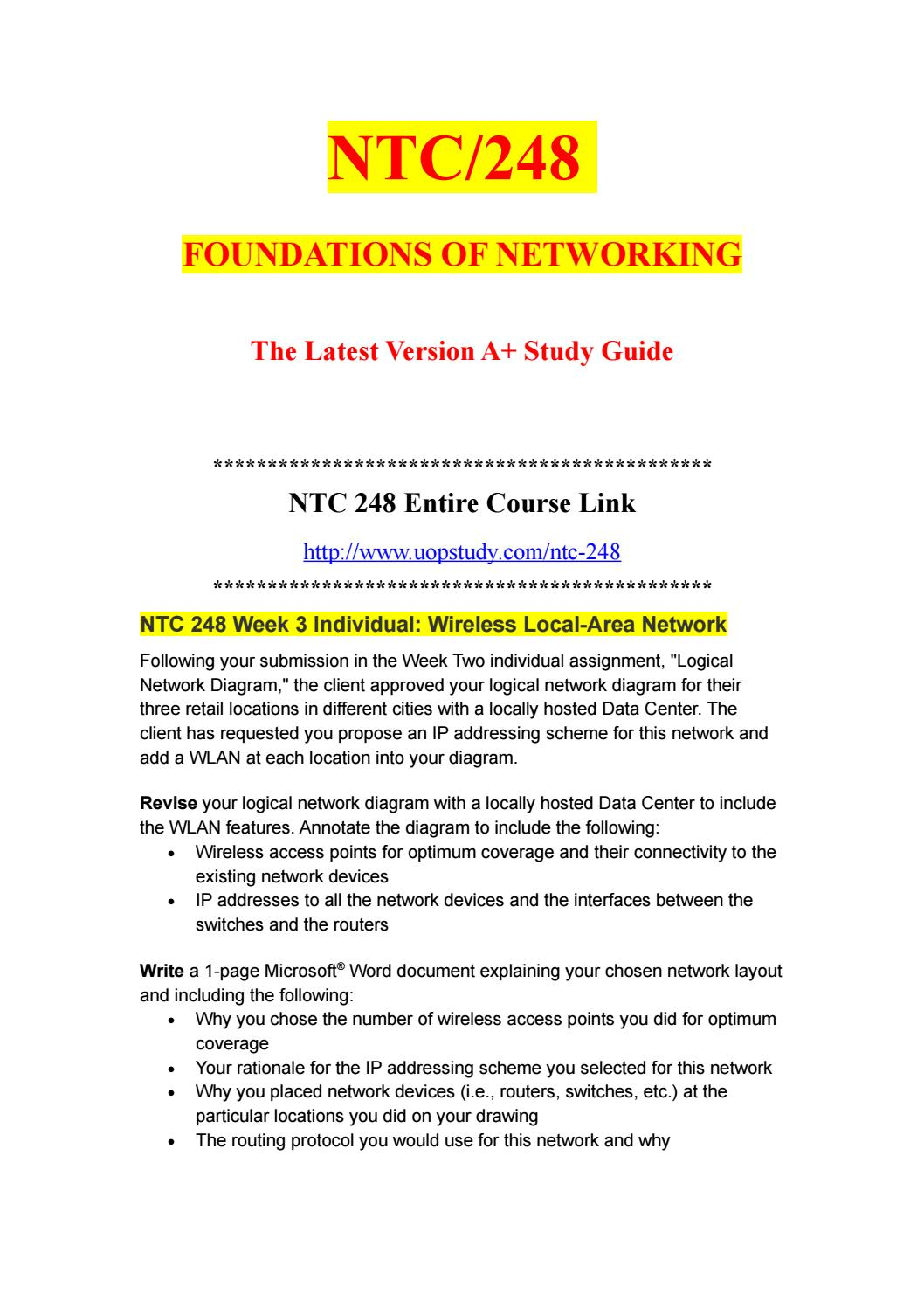 hight resolution of ntc 248 week 3 individual wireless local area network uopstudy com by uopx002 issuu