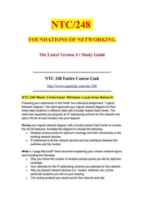 small resolution of ntc 248 week 3 individual wireless local area network uopstudy com by uopx002 issuu