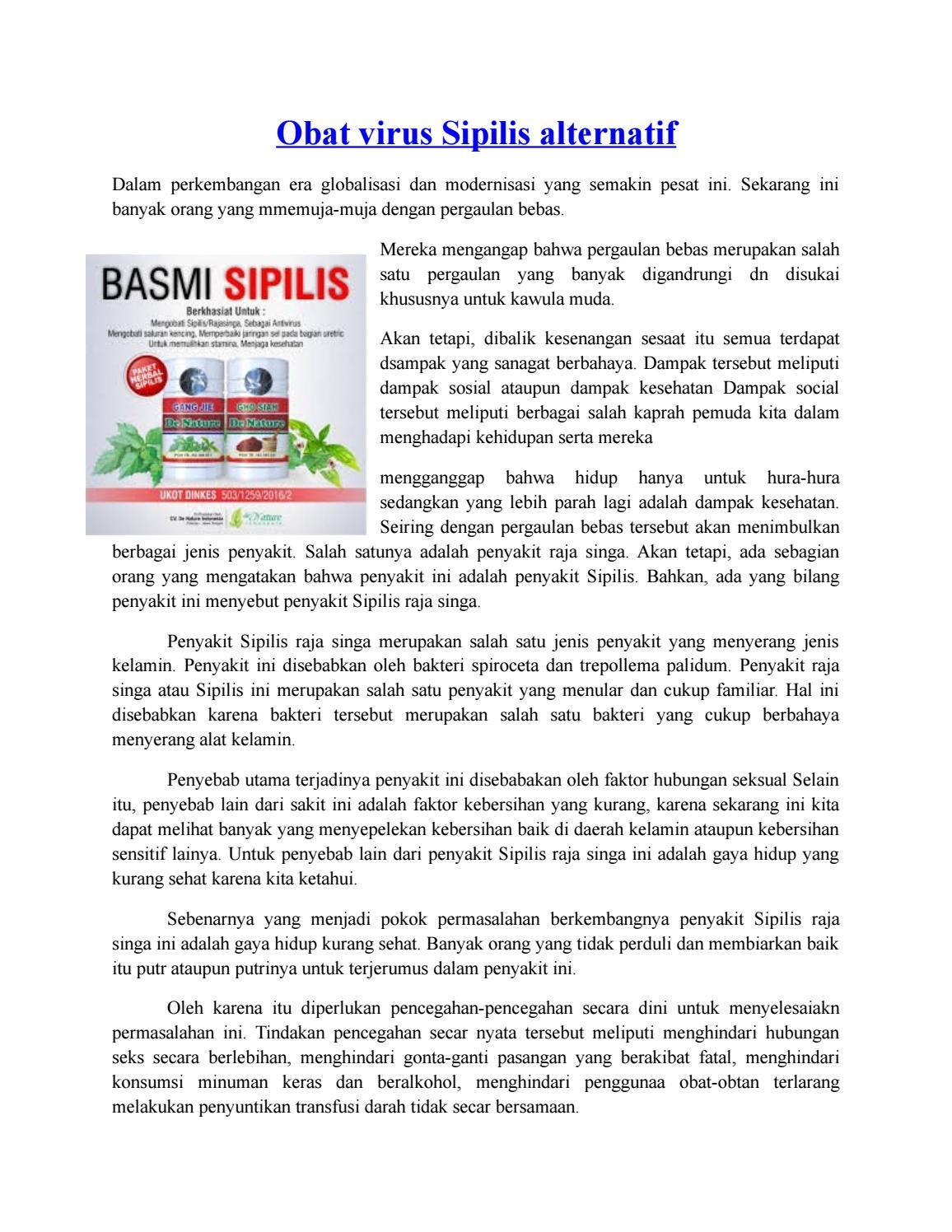 Obat virus Sipilis alternatif by Denature Indonesia - issuu