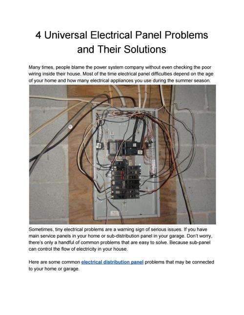 small resolution of 4 universal electrical panel problems and their solutions by surplus electrical issuu