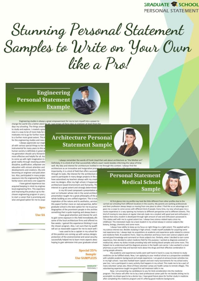 Stunning Personal Statement Samples to Write on Your Own like a