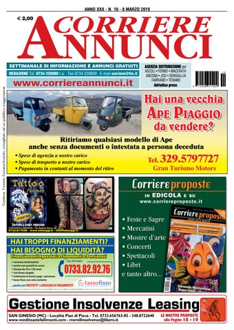 Corriere 10 2019 By Corriere Annunci Issuu