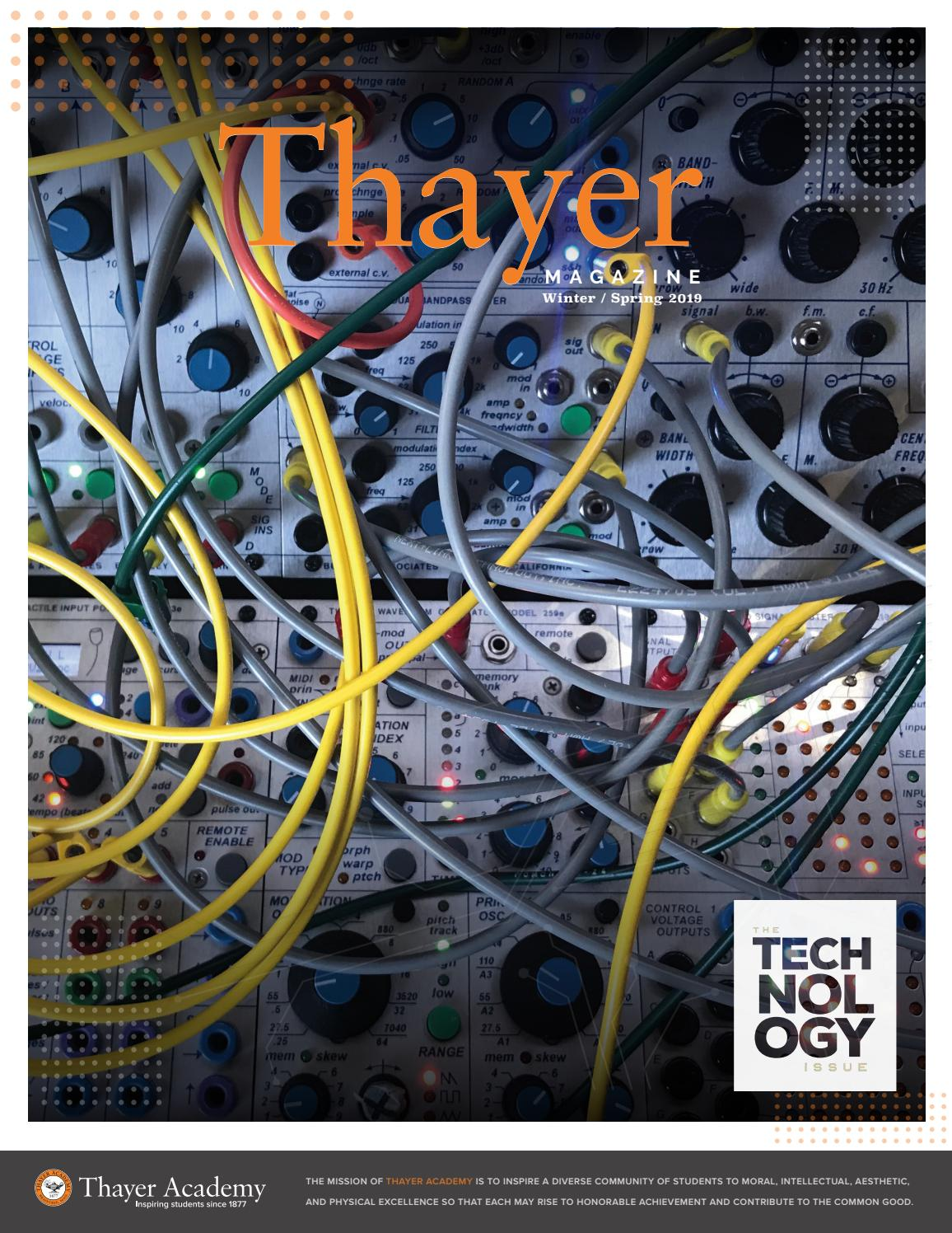 hight resolution of thayer magazine winter spring 2018 19 the technology issue