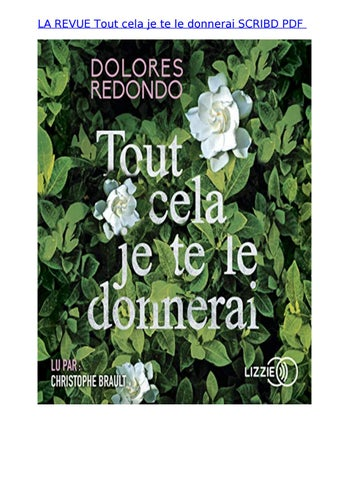 Tout Cela Je Te Le Donnerai : donnerai, Revue, Donnerai, Scribd, Teguh.197941, Issuu