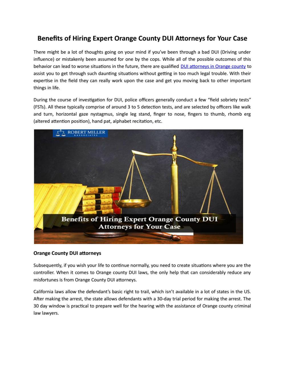 medium resolution of benefits of hiring expert orange county dui attorneys for your case by robert miller associates issuu