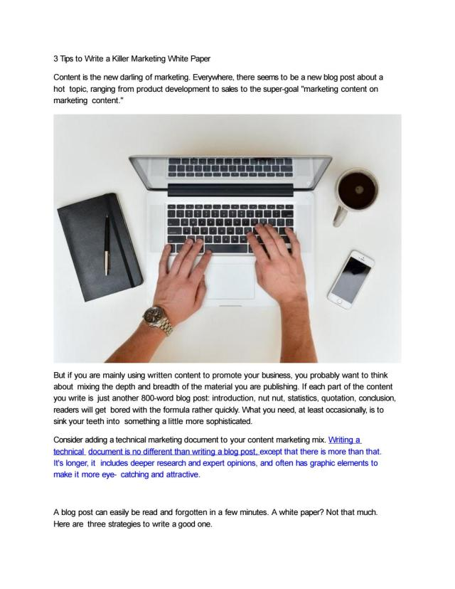 29 Tips to Write a Killer Marketing White Paper by Falcon Words - issuu