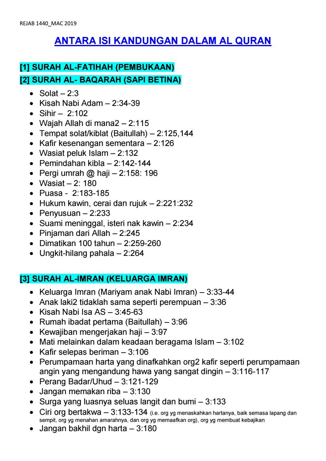 Isi Kandungan Surah Al Bayyinah : kandungan, surah, bayyinah, Quran_Antara, Kandungan, Azhari_kb, Issuu