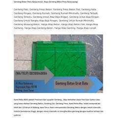 Harga Atap Baja Ringan Dan Genteng Beton Wa Telp 082186148884 Daftar Plat Bojonegoro