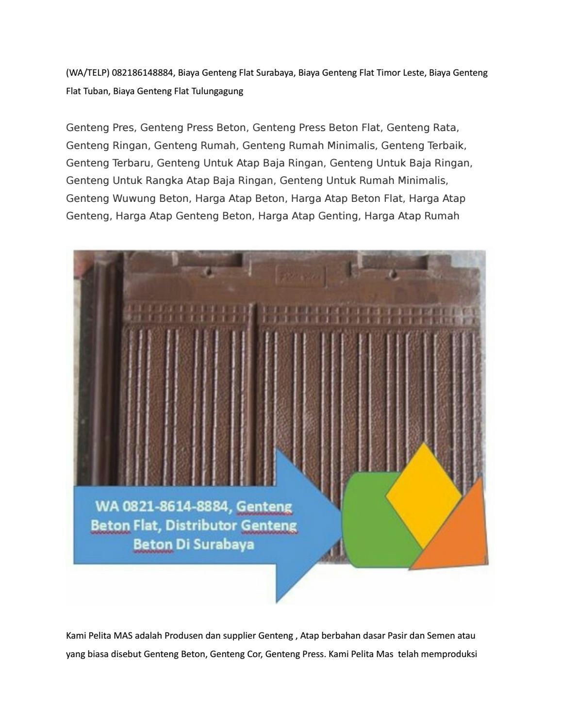biaya baja ringan dan genteng wa telp 082186148884 daftar harga beton polos bali