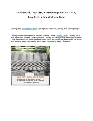 harga baja ringan madiun wa telp 082186148884 genteng beton plat