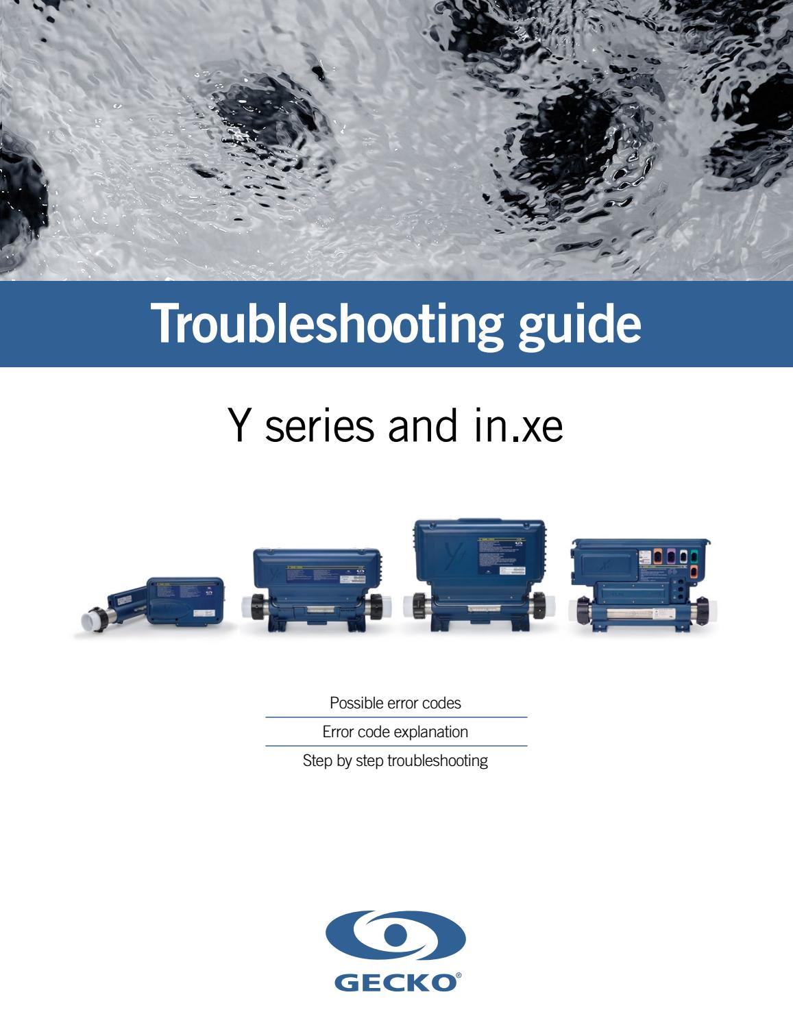 hight resolution of troubleshooting guide for y series in xe from gecko marketing