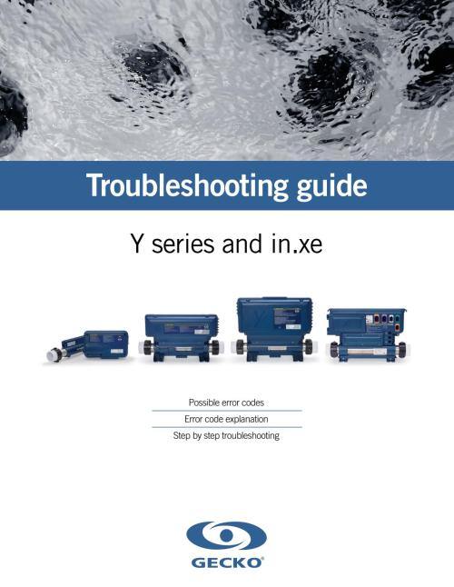 small resolution of troubleshooting guide for y series in xe from gecko marketing
