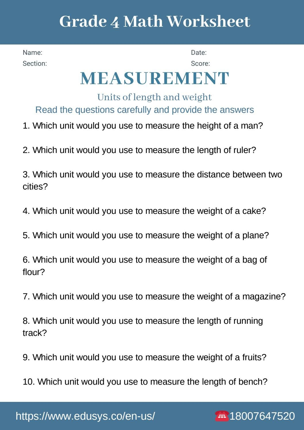 hight resolution of 4th grade math worksheet on measurements by nithya - issuu