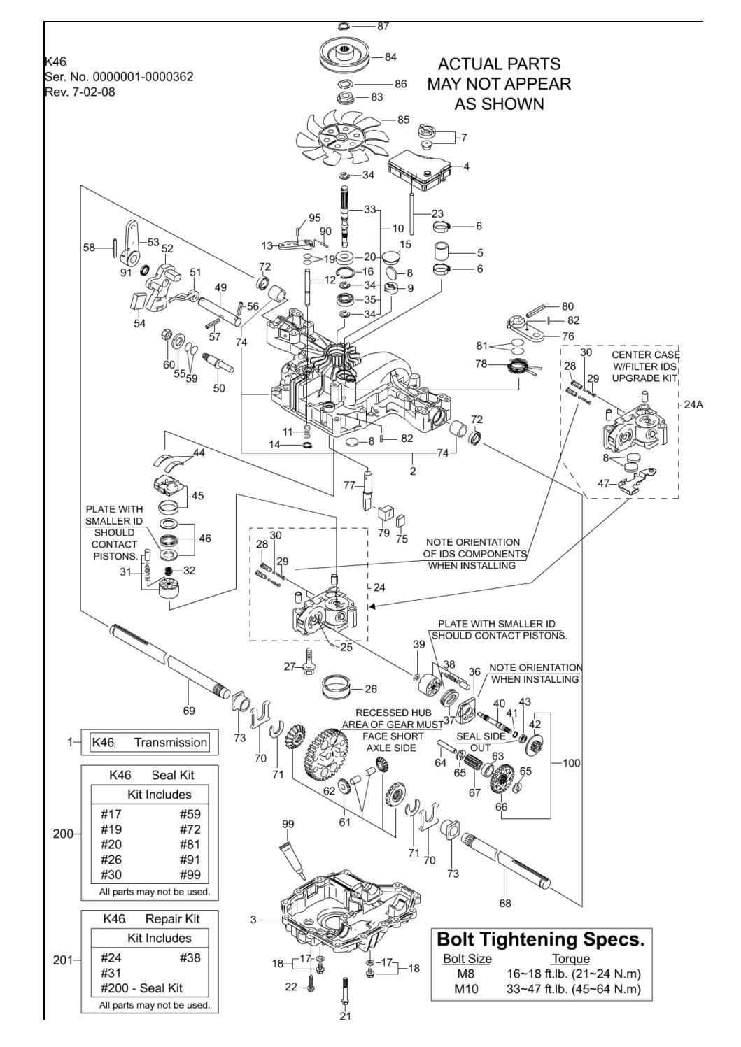 Transmission Group - Tuff Torq K-46Bf - Snapper LT300... | ManualsLib
