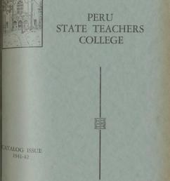 1941 1942 catalog of peru state teachers college nebraska  [ 936 x 1497 Pixel ]