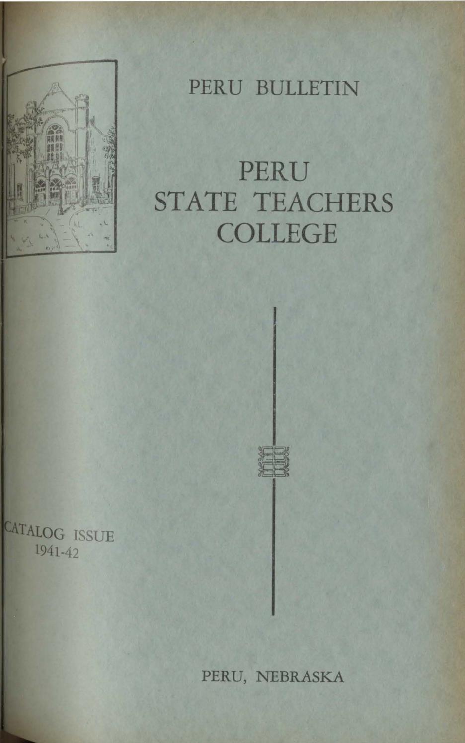 hight resolution of 1941 1942 catalog of peru state teachers college nebraska