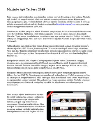 Vidhot Apk Download Pc : vidhot, download, Maxtube, Terbaru, Wowteknogrup, Issuu