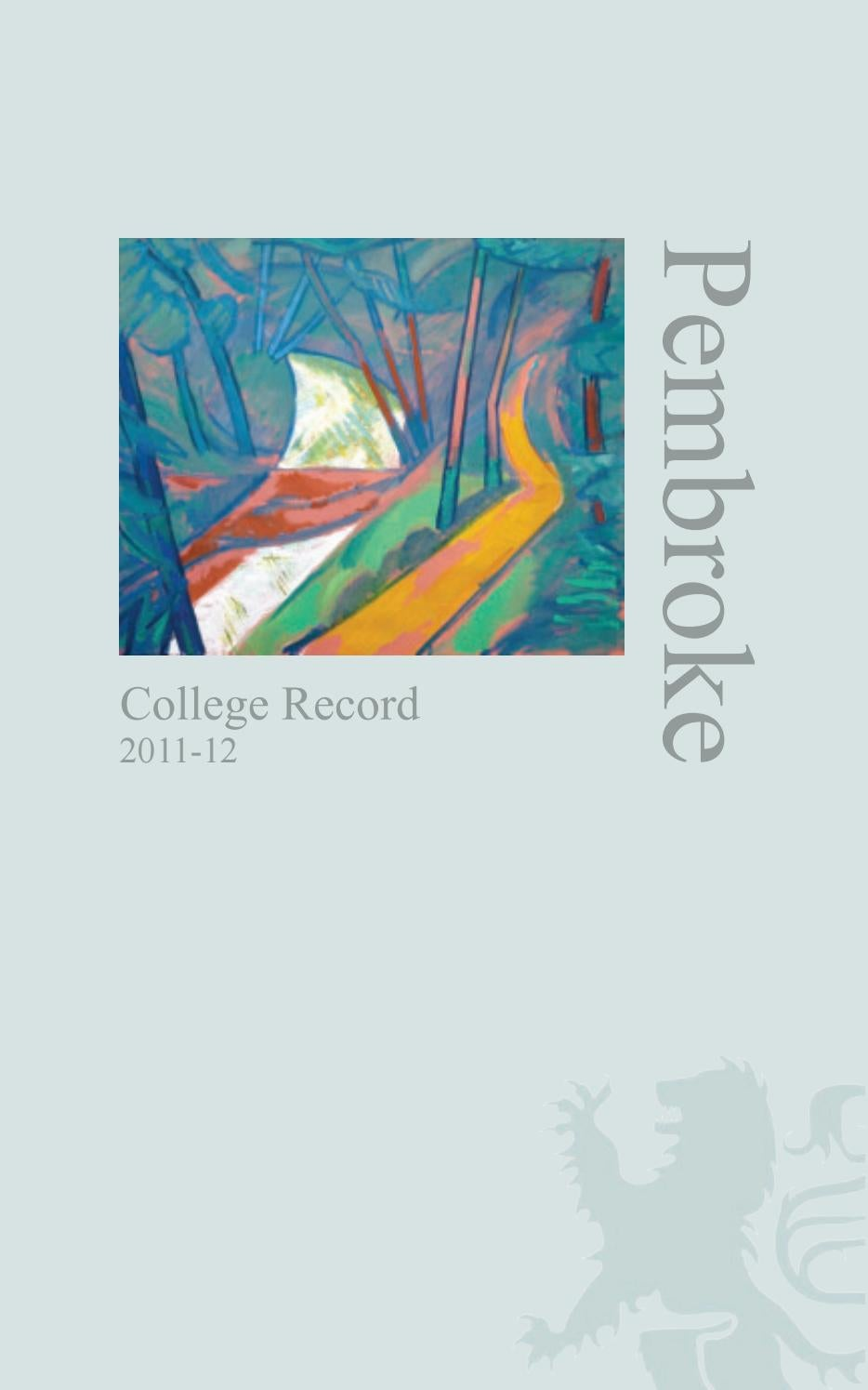 hight resolution of pembroke college record oxford 2011 2012 by pembroke college oxford issuu