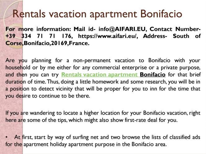 Als Vacation Apartment Bonifacio By