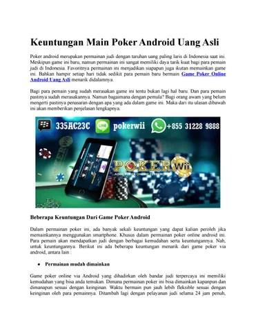 Main Poker Tanpa Modal Dapat Uang : poker, tanpa, modal, dapat, Keuntungan, Poker, Android, Gameofonlinepoker, Issuu