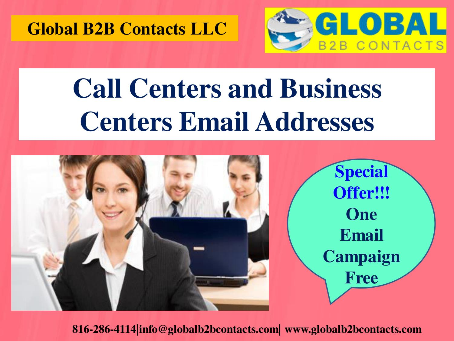 List Of Call Centers Call Centers And Business Centers Email Addresses