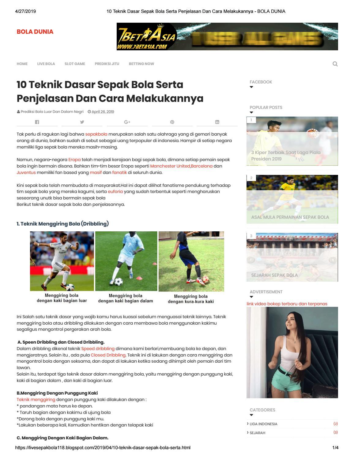 4 Teknik Dasar Sepak Bola : teknik, dasar, sepak, Teknik, Dasar, Sepak, Serta, Penjelasan, Melakukannya, Milency02, Issuu