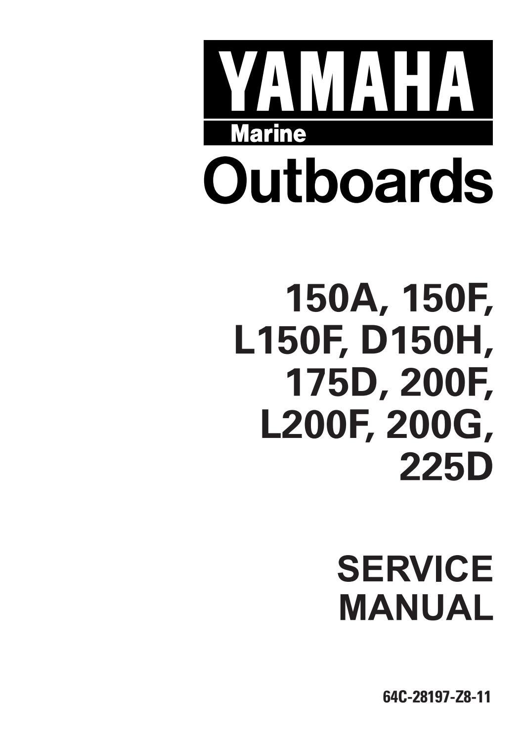 YAMAHA 175DETO OUTBOARD Service Repair Manual L 350273