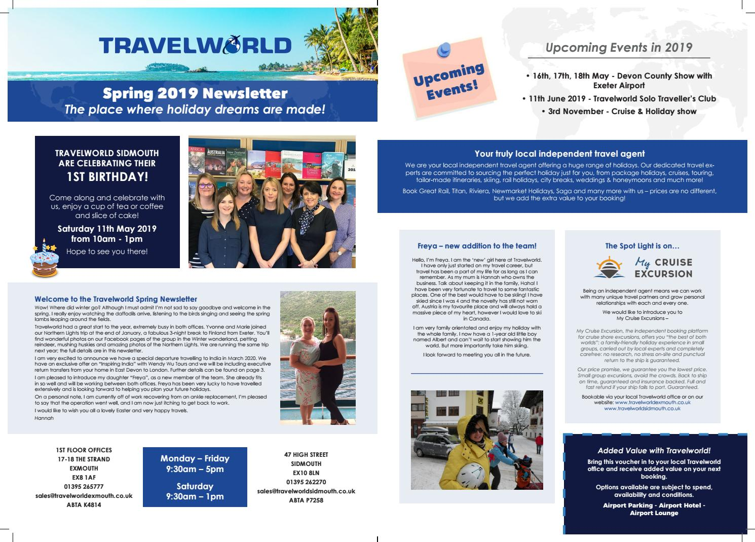 Travelworld Spring 2019 By Net Effect Issuu