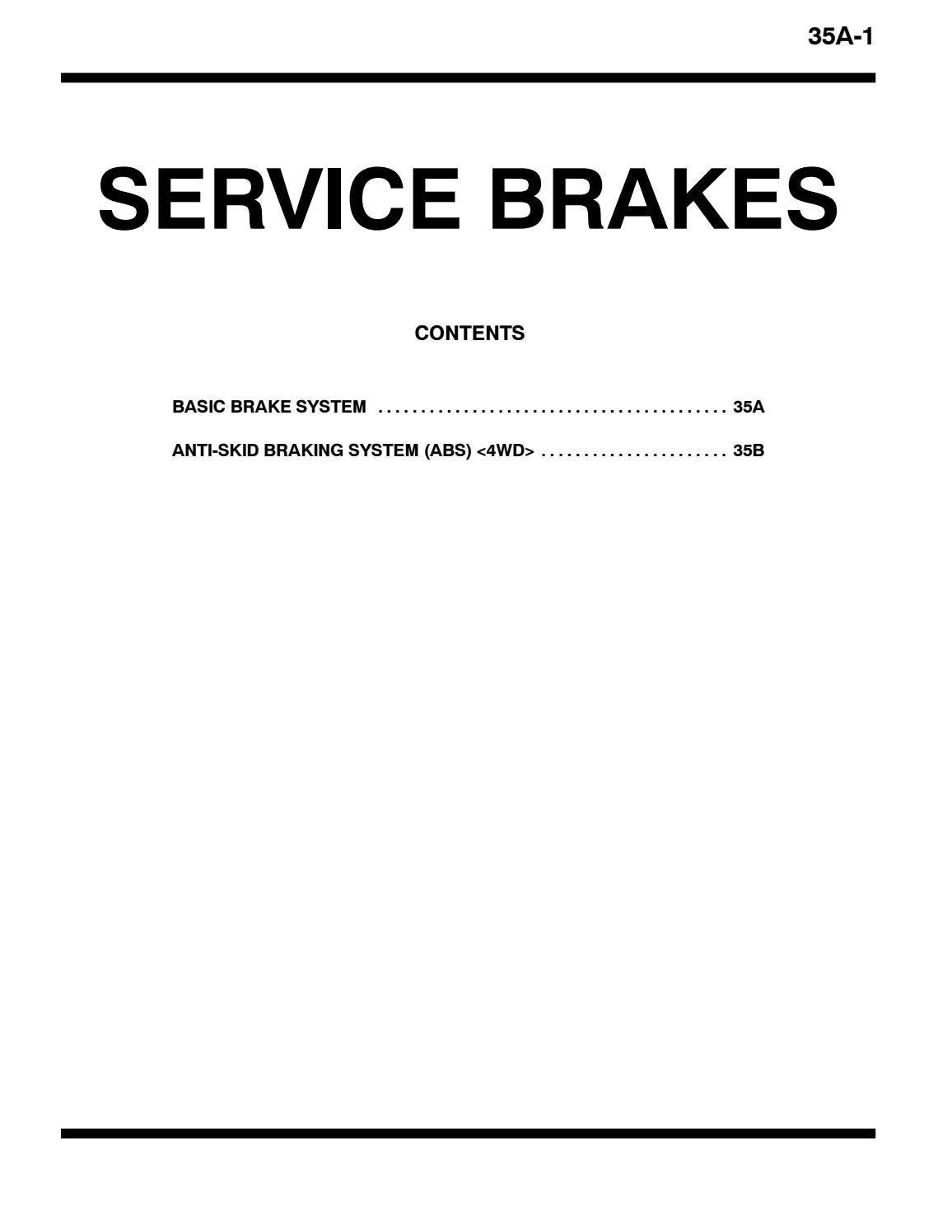 2004 MITSUBISHI MONTERO PAJERO Service Repair Manual by
