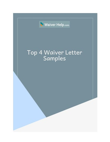 top 4 waiver letter
