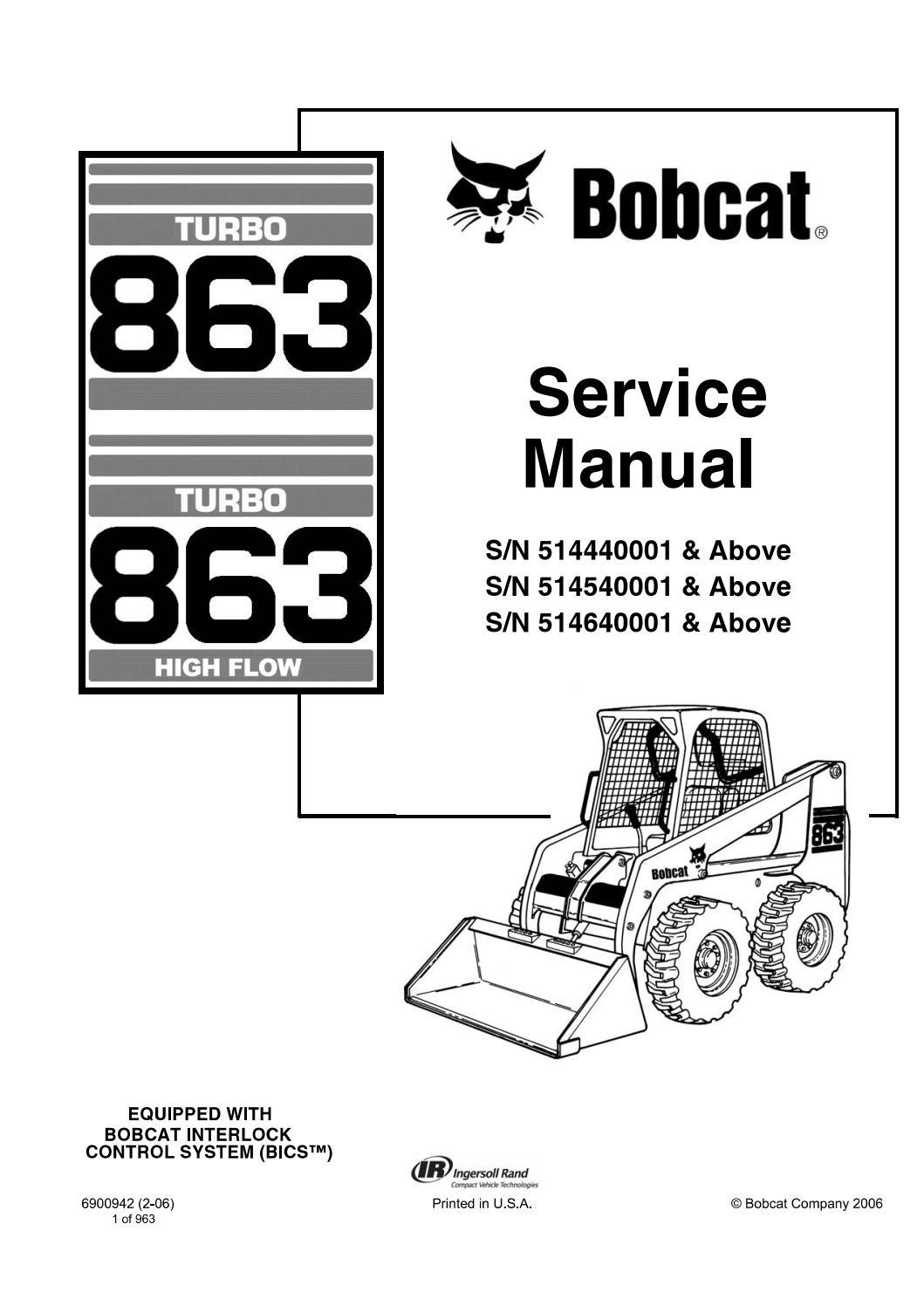 Bobcat Turbo 863, Turbo 863 High Flow Skid Steer Loader
