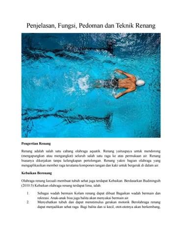 Penjelasan Tentang Olahraga Renang : penjelasan, tentang, olahraga, renang, Materi, Terbaru, Renang, Percepat, Issuu