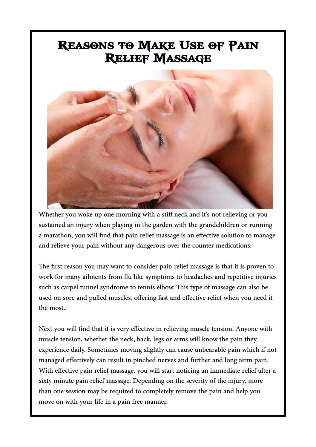 Reasons to Make Use of Pain Relief Massage by Kinetic Massage ...