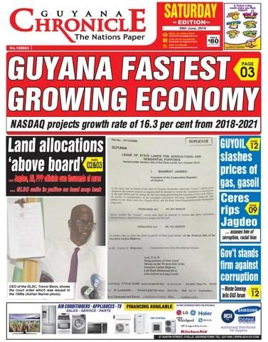 Guyana Chronicle Epaper 06 29 2019 By Guyana Chronicle E