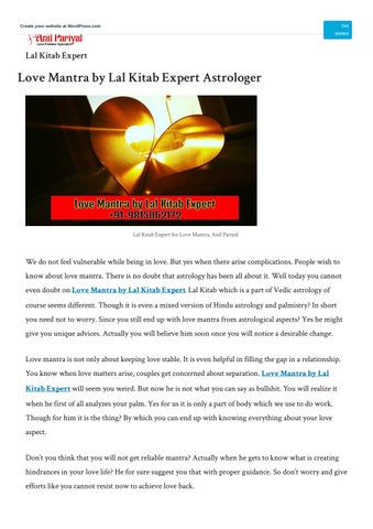 Kitab Mantra : kitab, mantra, Mantra, Kitab, Expert, Astrologer, World, Anilpariyalg, Issuu