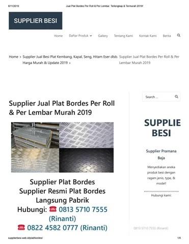 Harga Plat Bordes Per Lembar : harga, bordes, lembar, Supplier, Bordes, Lembar, Murah, Siddiqrizal84, Issuu