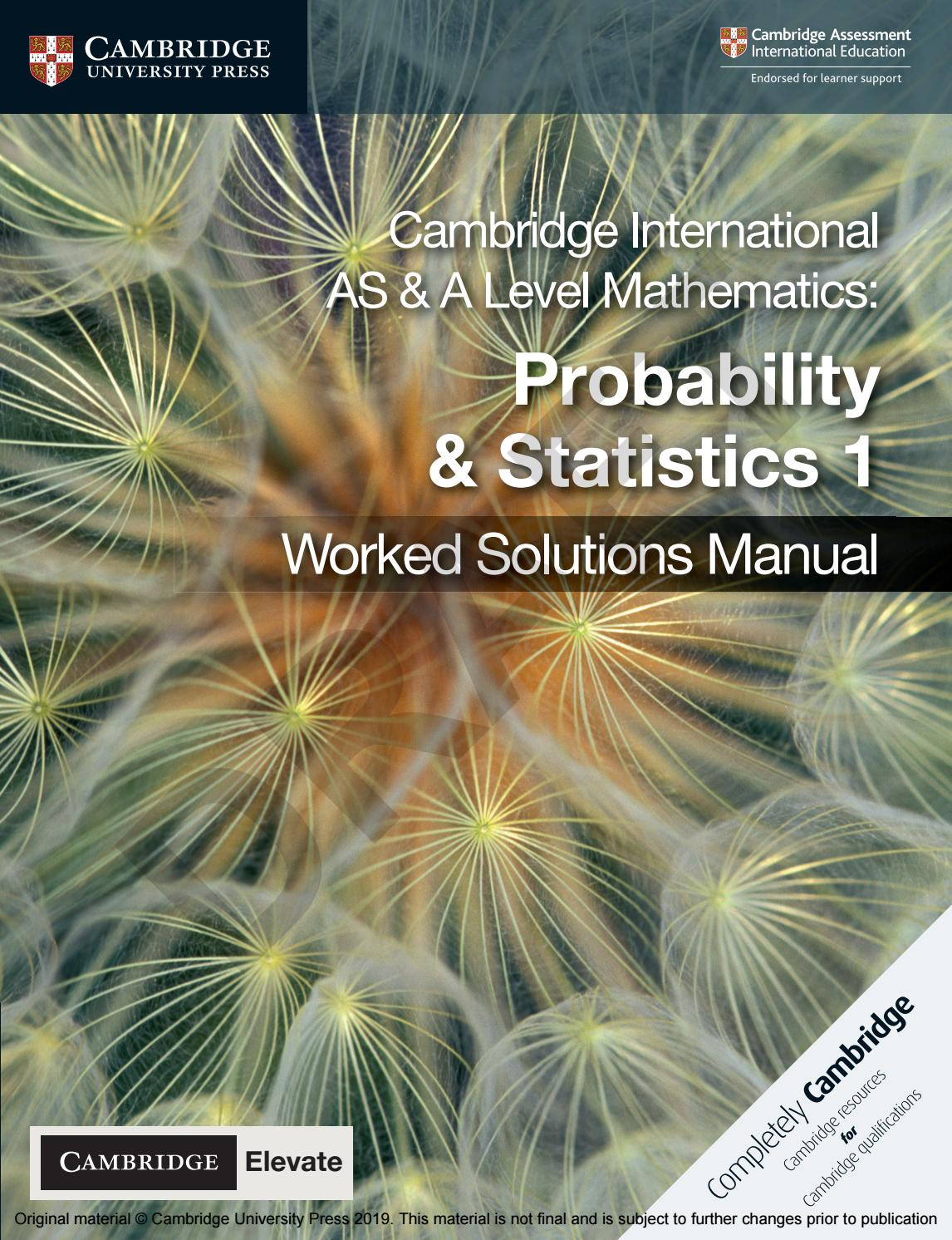 hight resolution of Probability and Statistics 1 sample by Cambridge University Press Education  - issuu
