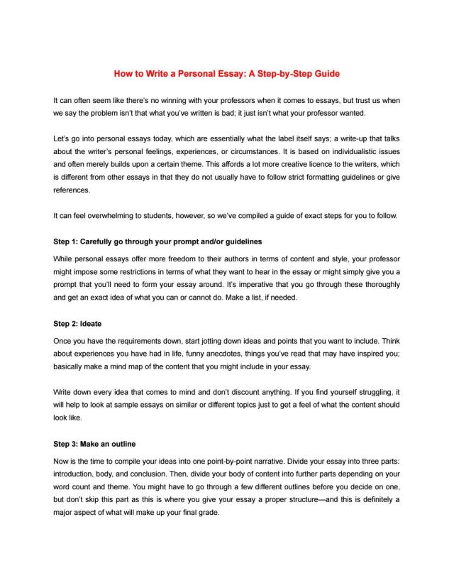 How to Write a Personal Essay: A Step-by-Step Guide by Bharat