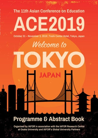 The Asian Conference On Education Ace2019 Official