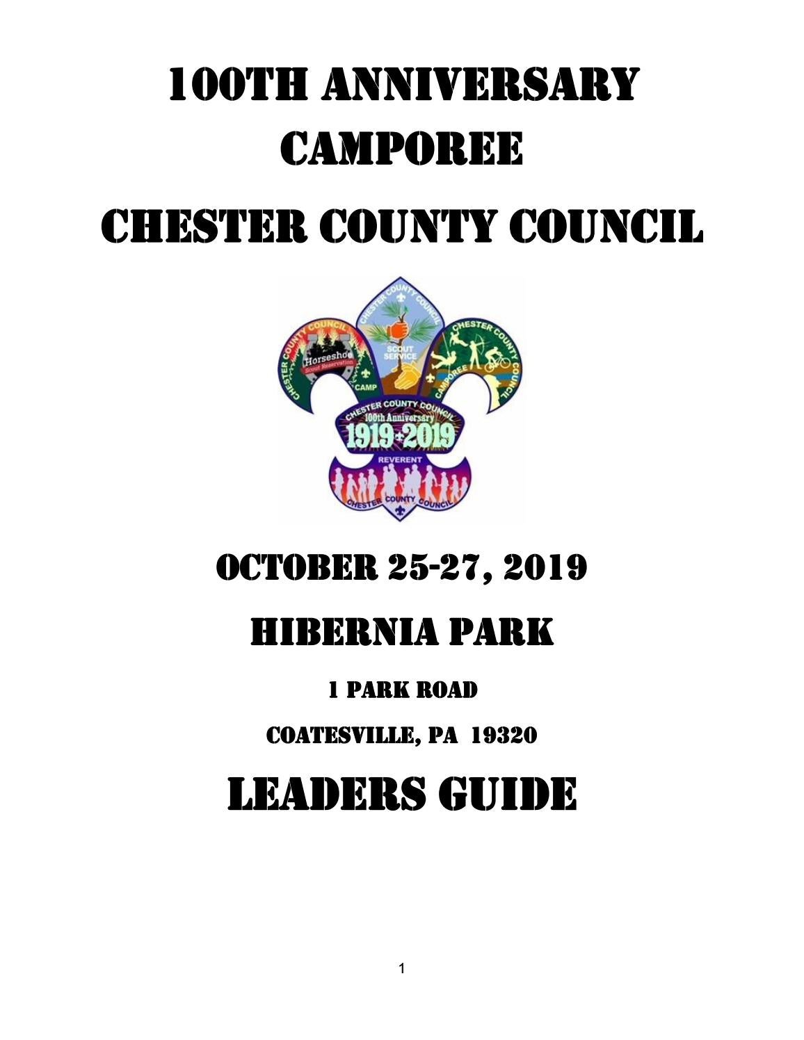 Chester County Council 100th Anniversary Camporee Leaders