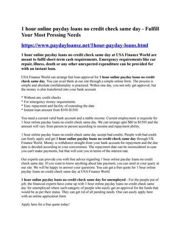 6 30 days cash advance financial loans