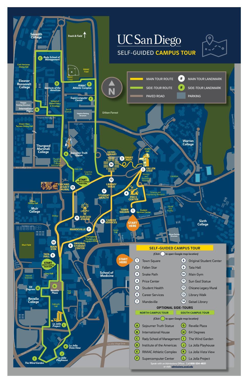 San Diego Miramar College Map : diego, miramar, college, Diego, Self-Guided, Admissions, Issuu