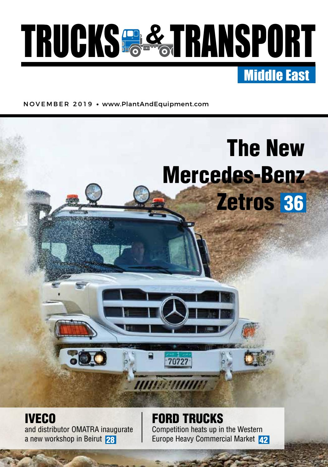 Trucks Transport Middle East November 2019 Edition By Plant