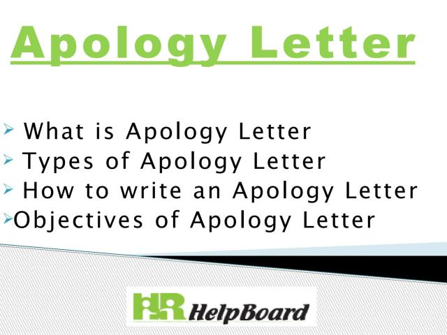 Apology Letter by Hrhelpboard22 - issuu