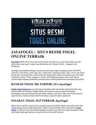 Result Sydney Jayatogel : result, sydney, jayatogel, Situs, Resmi, Togel, Auriel, Liang, Issuu