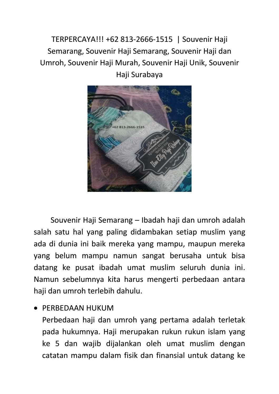 Perbedaan Rukun Haji Dan Umroh : perbedaan, rukun, umroh, TERPERCAYA!!!, Souvenir, Semarang, 813-2666-1515, Pusat, Issuu
