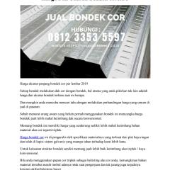 Harga Baja Ringan Buat Ngecor Dan Ukuran Bondek Terbaru Hp 0812 3353 5597 By