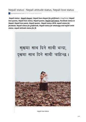 Funny Whatsapp Status In Nepali : funny, whatsapp, status, nepali, Nepali, Status, Attitude, Status,, Mynepalistatus, Issuu
