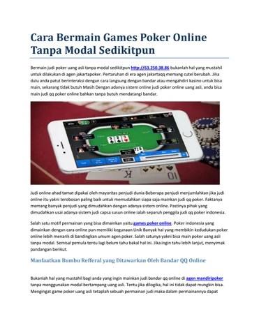 Main Poker Tanpa Modal Dapat Uang : poker, tanpa, modal, dapat, Bermain, Games, Poker, Online, Tanpa, Modal, Sedikitpun, Issuu